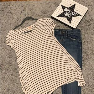 Mossimo skinny jeans and flare top